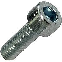 AERZETIX - 20 schroeven met cilinderkop, M5 x 16 mm, DIN912, verzinkt staal, 4 mm, Inbus - C18337