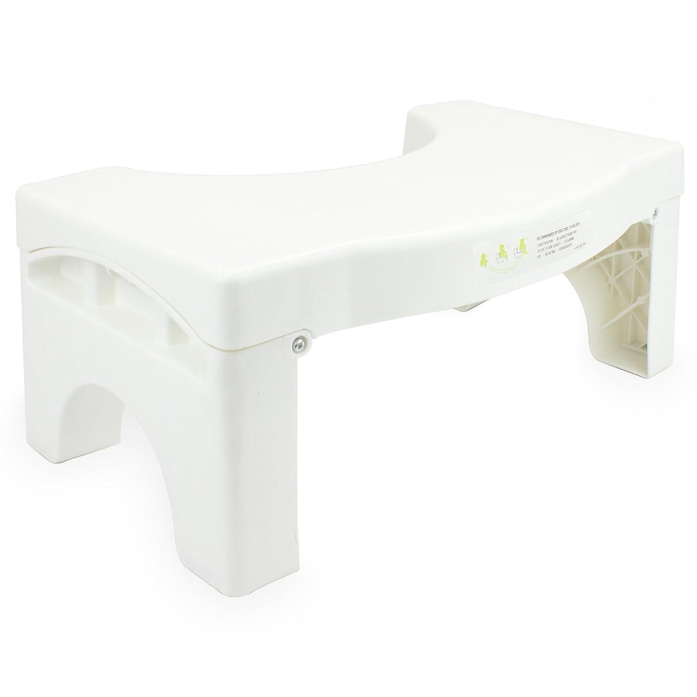 Squatting Folding Toilet Stool | Medically Tested & Proven | Squat Potty M&W Maison & White