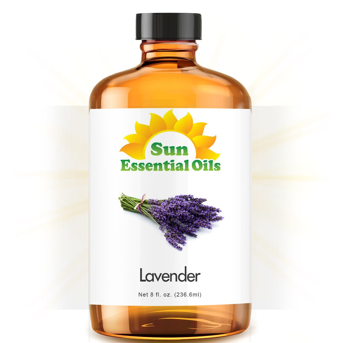 Lavender Essential Oil by Sun Essentials, 4oz Sun Organic