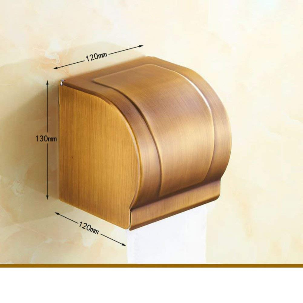WSJJGAO Antique Tissue Box Toilet Toilet Paper Holder Toilet [Waterproof Hand Tray] Toilet Paper Holder Toilet Winding Machine-A