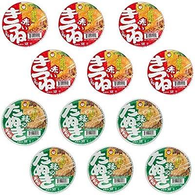 12 pack Akai kitsune Udon (6pack) and Midori no Tanuki Soba (6pack) set from Maruchan