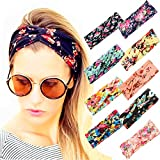 Adramata 9 Pcs Headbands for Women Girls Wide Boho Knotted Yoga Headband