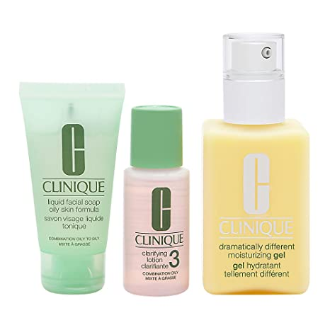 Buy Clinique 3 Piece 3 Step Skin Care Introduction Kit for Unisex ... 5a53f93b57