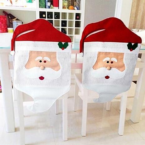 Zogin Fundas decorativas navideños para sillas con respaldo para la cena y fiesta de Nochebuena -