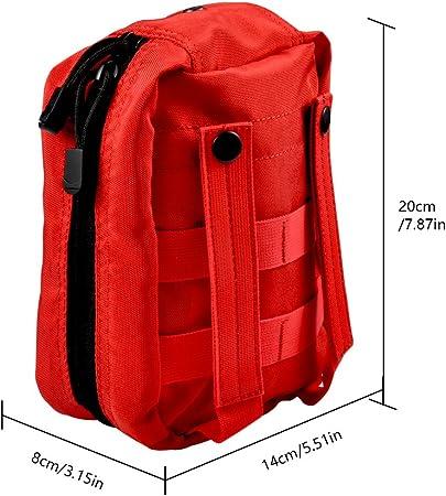VGEBY1 Erste Hilfe Tasche Molle Taktische Gürteltasche Rucksack Molle Rot