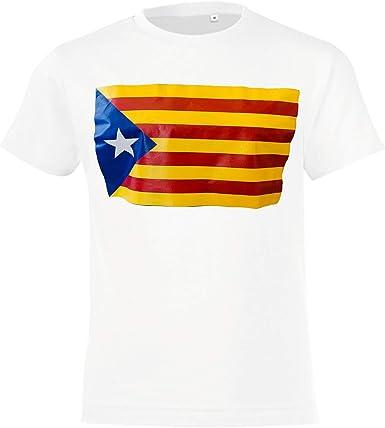 DRAKNET Camiseta Unisex de algodón - Bandera Cataluña España Catalunya (XL): Amazon.es: Ropa y accesorios