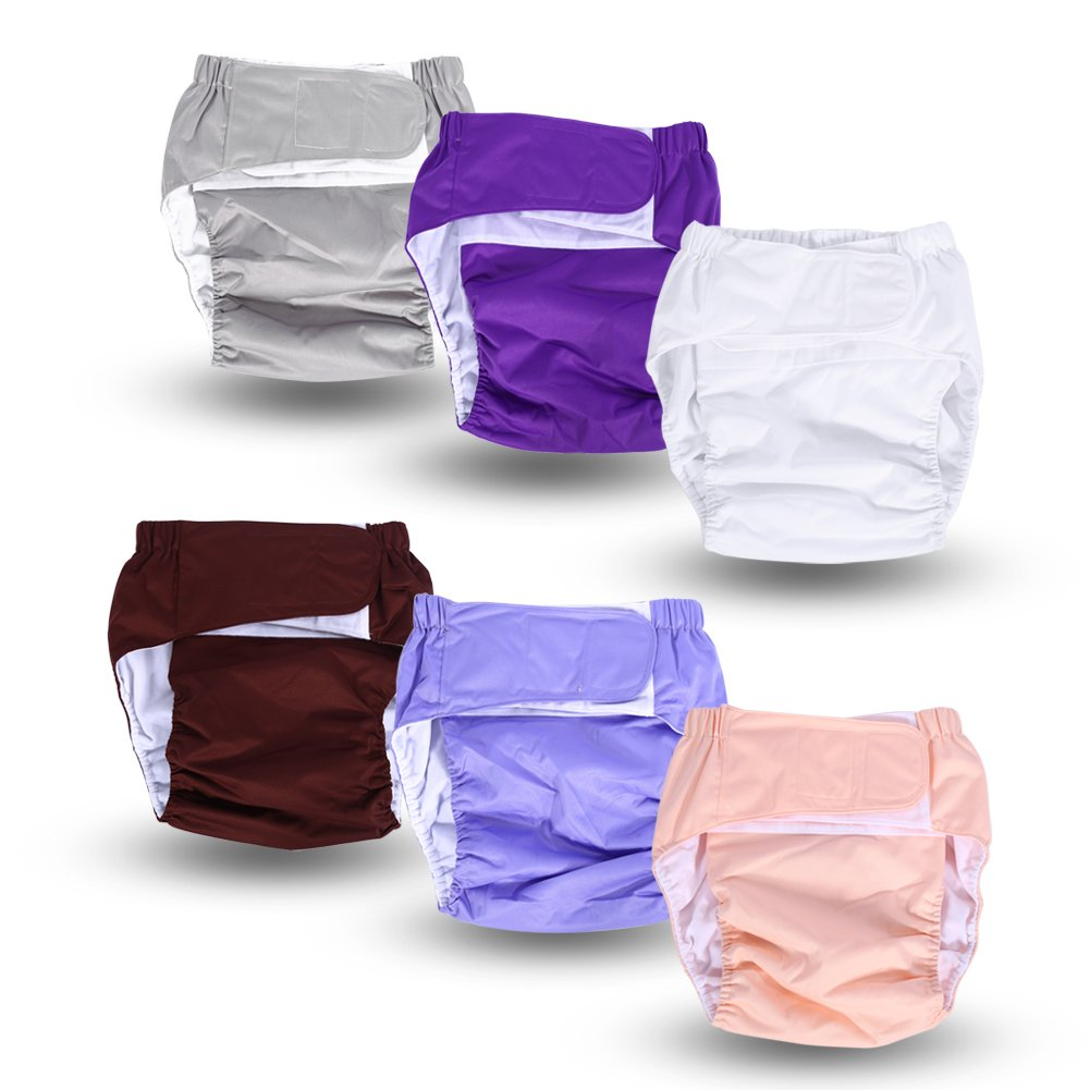 Teen / Adults Cloth Diapers, Adjustable Washable Dual Opening Pocket Reusable Leakfree Insert for Incontinence Care by Yosoo (Image #4)