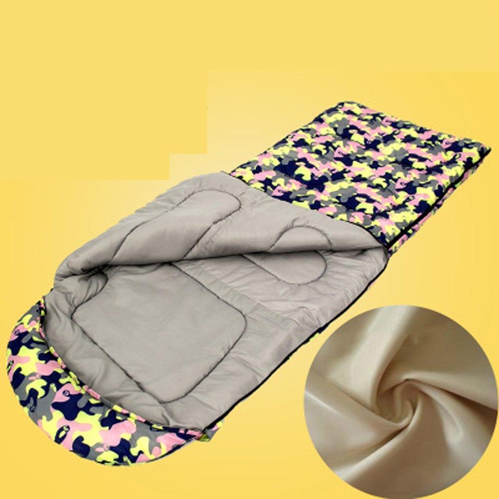 Hemaodi Vier Jahreszeiten Camping im Freien Schlafsack warm und Erwachsenen Dicker Innenmittagspause Tarnung Baumwolle Schlafsack (obere und untere Naht)
