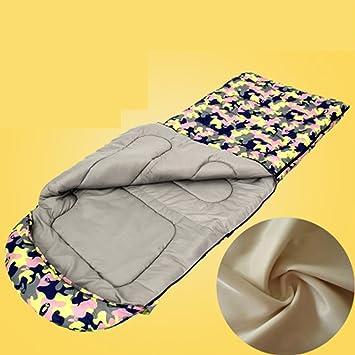 Hemaodi Cuatro estaciones de camping saco de dormir caliente al aire libre para adultos más gruesa ...