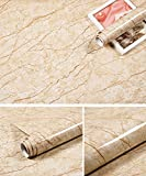 #10: MULLSAN Granite Look Marble Effect Self-adhesive Contact Paper Film Peel-stick Counter Top Floor Tiles 24''x79''