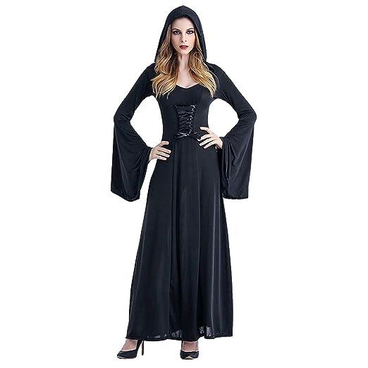 943b3cbefa81a Neky ハロウィン 仮装 魔女 コスプレ 衣装 女王様 フード付きローブ コスチューム レディース