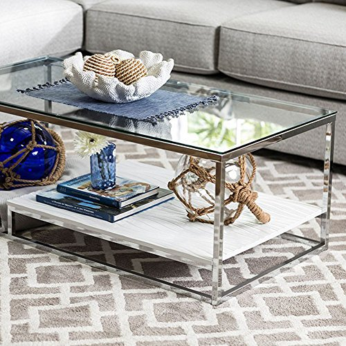 Furniture of America CM4231WH-C Vendi White Coffee Table
