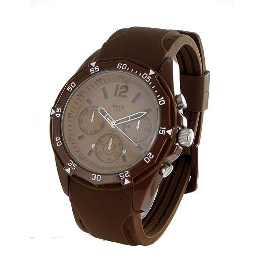 Nodshop-Reloj sumergible para hombre, diseño de Paris-MCK-movimiento mecánica redondo-Pulsera de goma, 2 años de garantía: Amazon.es: Relojes