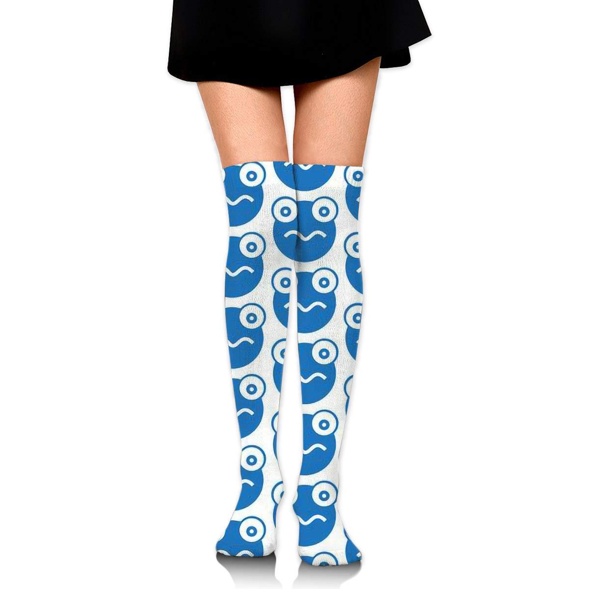 Frog Pattern Long Socks For Women 2 Pairs Best For Athletic Womens Knee High Socks
