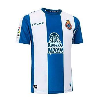 KELME Camiseta de la 1ª equipación del RCD Espanyol 18-19: Amazon.es: Deportes y aire libre