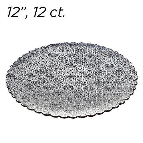 12 ct 12 Silver Scalloped Edge Cake Boards