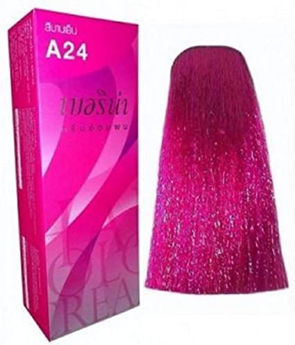 Berina Permanent Hair Dye Color Cream # A24 Magenta. by Berina