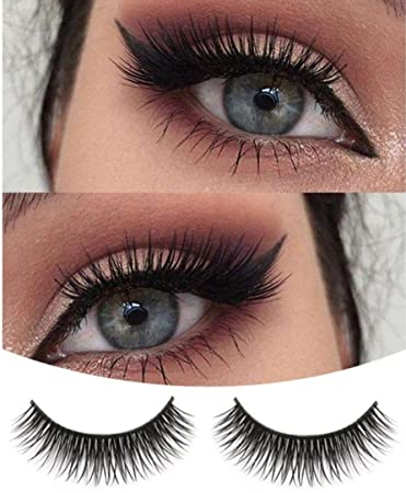 Eyelashes,LtrottedJ A Pair Crisscross Multilayer Natural Beauty Long Soft Dense False Eyelashes