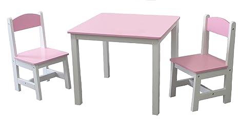 Habeig Kindertisch 2 Kinderstuhl Rosa Kinderschreibtisch Kindersitzgruppe Kindermöbel 1a Qualität