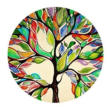 1 X Tree of Life Gorgeous Like Leather Mousepad Size(7.87 x7.87 ) Customized Round Mouse pad