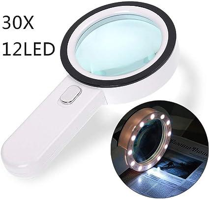 orologiaio hobby dimmerabile CJMM lente dingrandimento per anziani 2 modalit/à Lente di ingrandimento pieghevole a LED con luce a LED artigianato ispezione lettura