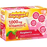 Emergen-C Dietary Supplement Drink Mix With 1000mg Vitamin C, 0.32 Ounce Packets, Caffeine Free (Raspberry Flavor, 30 Count)
