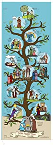 Bible Family Tree & Timeline Poster - Christian History & Art for Home Church Or Sunday Bible School - Unique Fun Gift Idea for Kids Baby Or Youth Birthday Party – Faith Artwork Teaching Gods Word