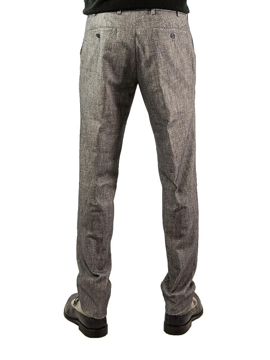 selezione premium più economico sito affidabile GERMANO Pantalone Sartoriale Spigato Slim Fit 56, Spigato Grigio ...