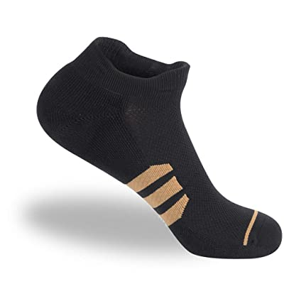 Amazon.com : Low Cut Socks Men, NIcool Unisex Cushioned Sports Rinning Tab No Show Socks, Black/White/Grey : Clothing