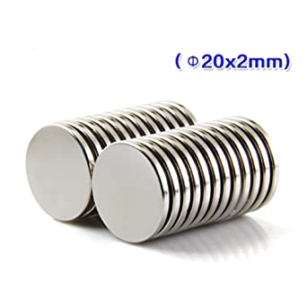 25mm x 2mm Rare Earth Large Disc Round Utility Magnet N52 Grade