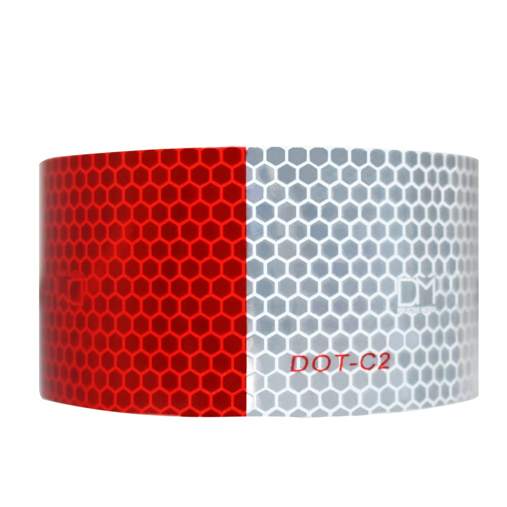 2 Inch x 13 Feet Connor Reflective Tape 1619190 Conspicuity Tape Trailer Reflective Strips DOT-C2 Approved