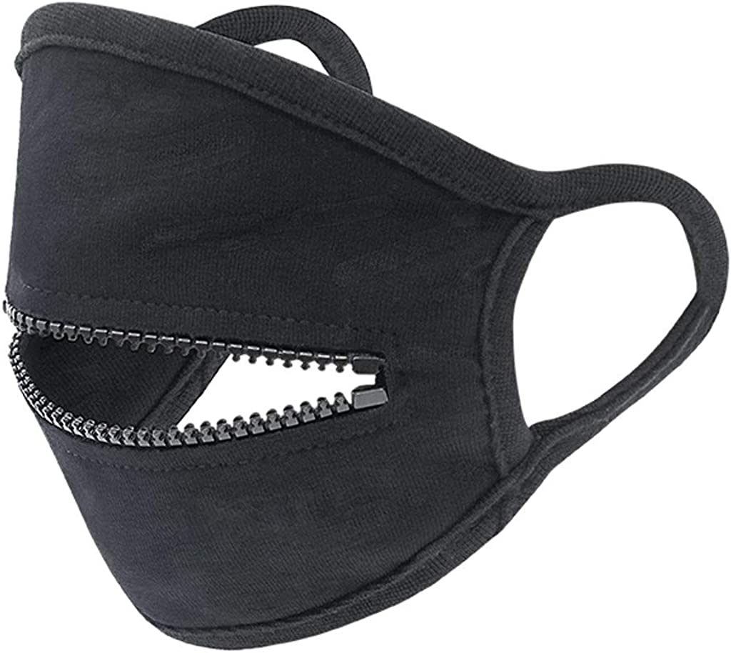 Washable Zipper Opening Mouth Design for Drinking Face Bandana Adult Face Cloth with Removable Eye Shield