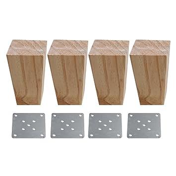 BQLZR - Patas de madera trapezoidal para muebles de madera ...