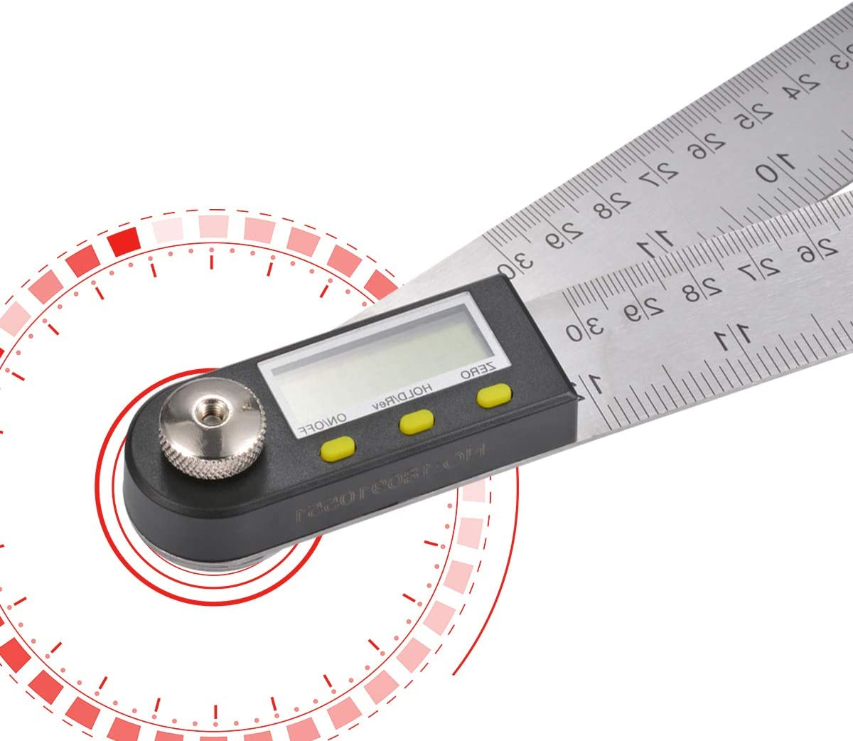 High Accuracy 360 Degrees Stainless Steel Digital Instrument General Tools Digital Angle Finder Rule,