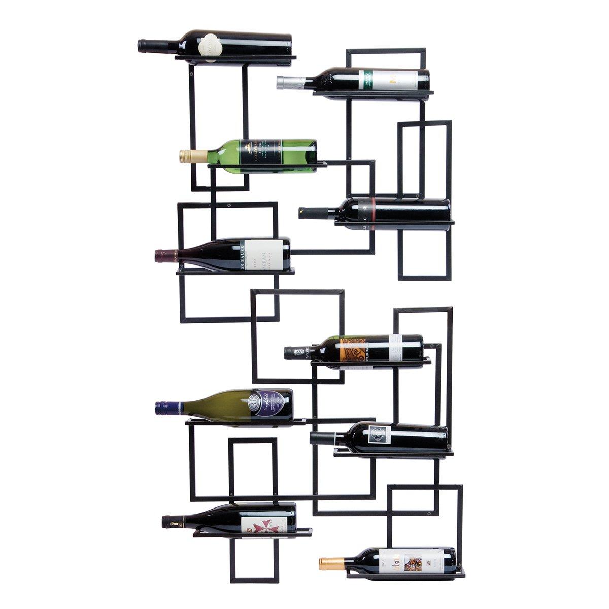 Oenophilia Mid Century Wall Mount Wine Rack - 10 Bottle by Oenophilia (Image #3)