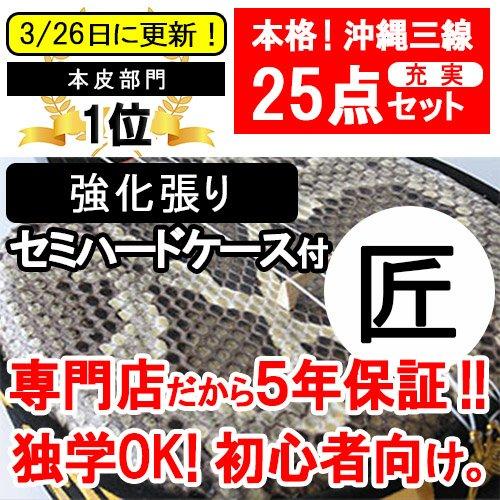 沖縄三線 特別限定セット (本皮)21点セット   B003MQBNP0
