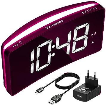 Mpow Radio Despertador Digital Proyector, FM Radio Reloj ...
