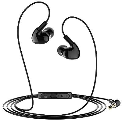 Mpow In-Ear auriculares de cable de los auriculares alámbricos oído, en Ear Headset con micrófono, ergonómico Confort para correr/Deportes/Gym etc