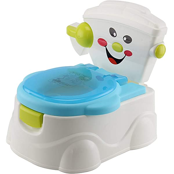 Baby Toilet Trainer Bowl Plastic Safety Toddler Potty Training Seat Smiling face