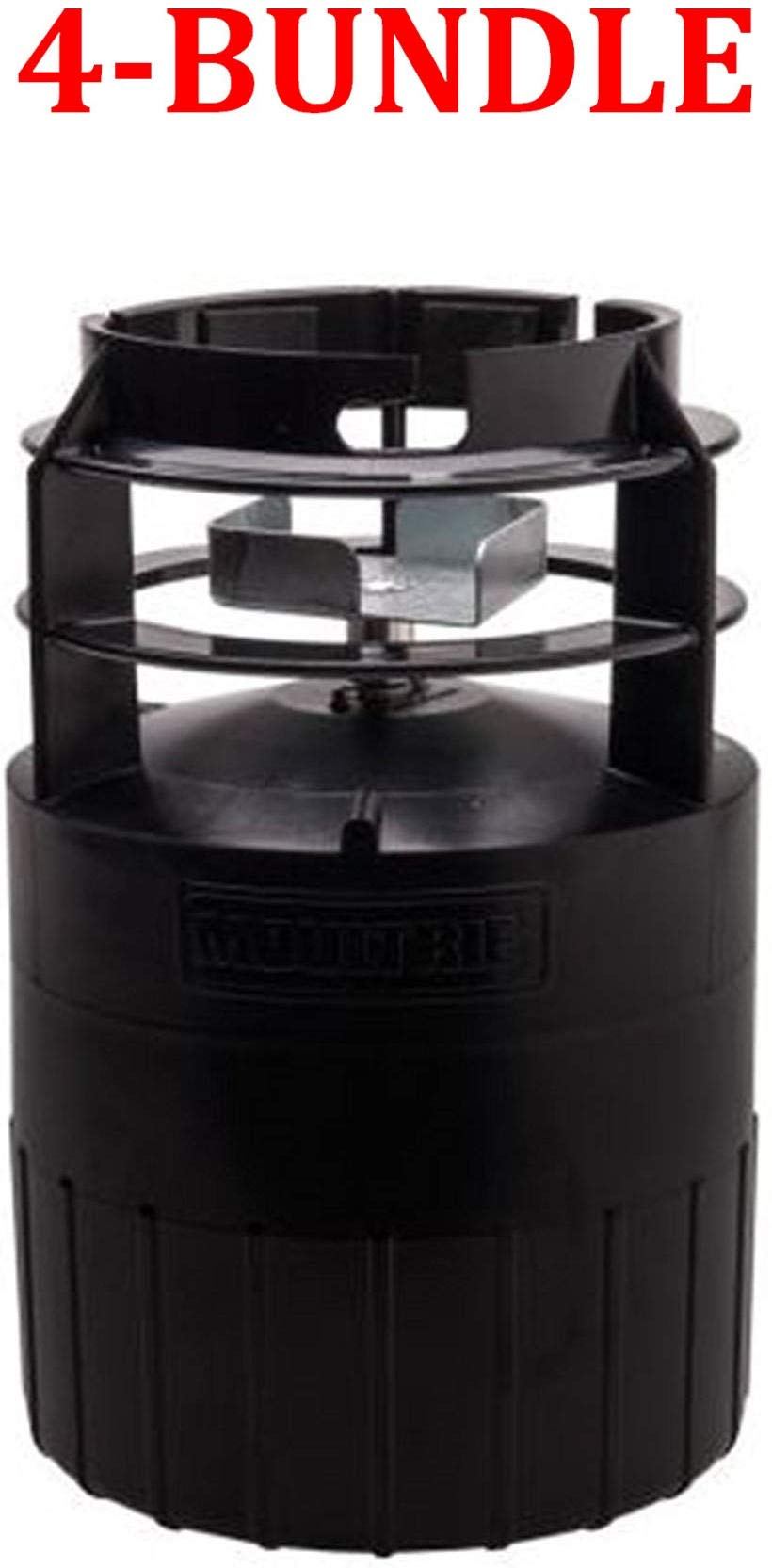 Moultrie MFG-13053 Pro Hunter Quick-Lock Feeder Kit (Black (4-Bundle)) by Moultrie