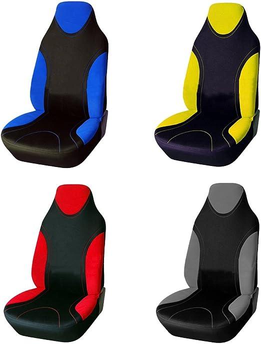 2 vordere Auto Sitzbezug Sitzbezüge Schonbezüge Einteilig Grau Neu für Opel VW