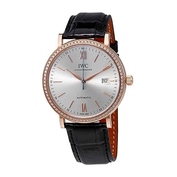 IWC INGENIEUR RELOJ DE HOMBRE AUTOMÁTICO 40MM CORREA DE CUERO IW356515: Amazon.es: Relojes