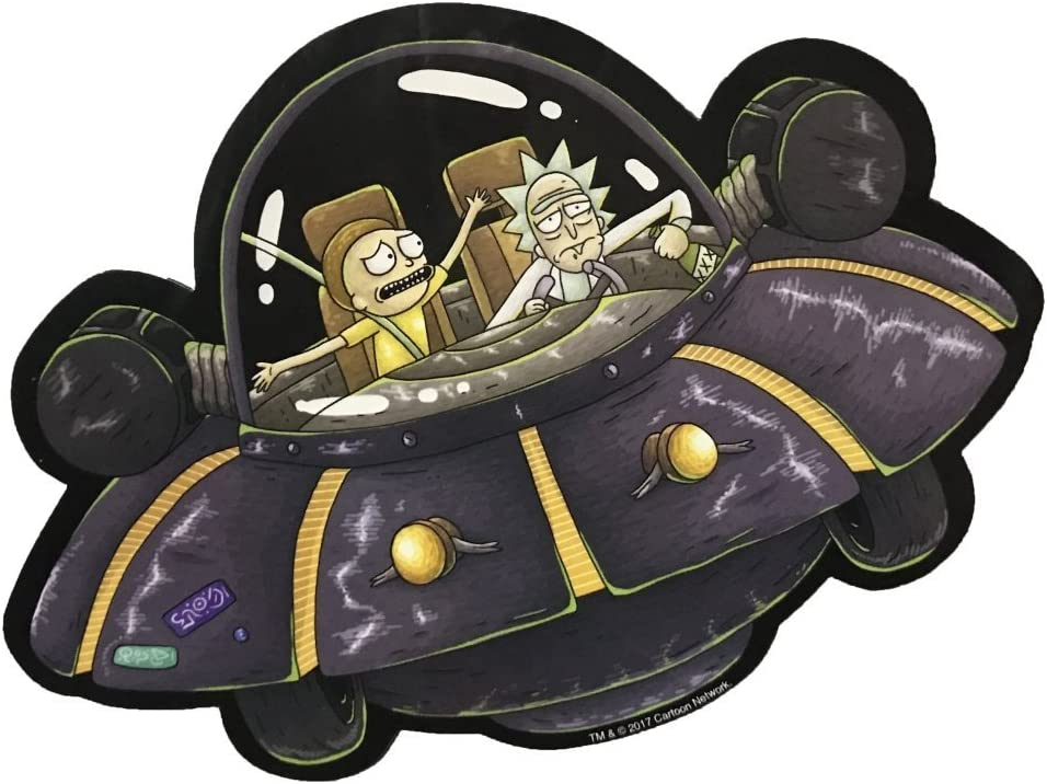 Hot Properties Rick and Morty - Spaceship Car Magnet