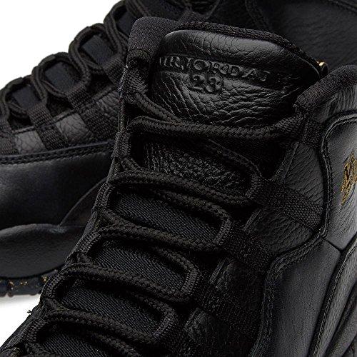 Jordan Nike Herren Air Retro 10 Basketballschuh Schwarz / Schwarz-drk Grau-mtlc Gld