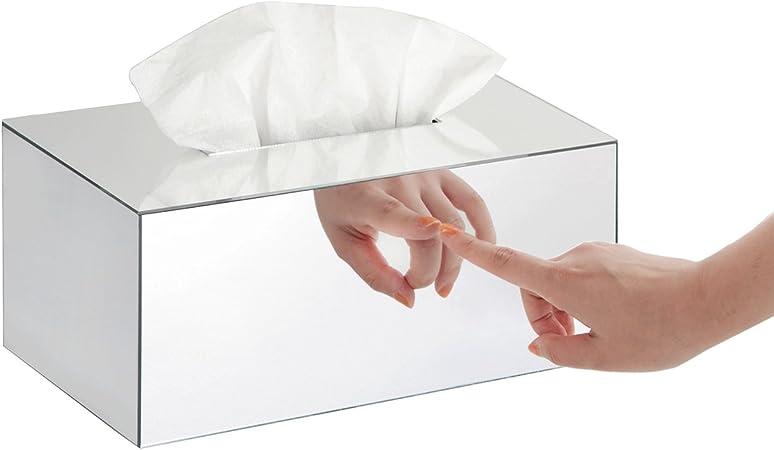 J JackCube Design - Caja de pañuelos rectangular con espejo de acrílico en general, caja de almacenamiento, soporte para servilletas, organizador (9,53 x 5,63 x 4,33 pulgadas) - :MK219B: Amazon.es: Hogar