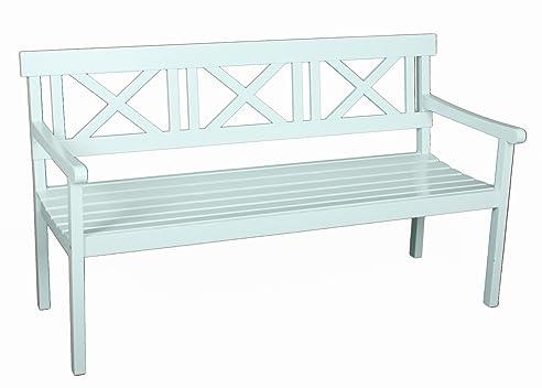 Gartenbank weiß 3 sitzer  Amazon.de: Gartenbank 3-Sitzer weiss Eukalyptus FSC Holz