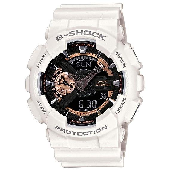 Casio G Shock analógico para hombre digital Deporte Quartz Reloj (Modelo de Asia) GA de 110rg para hi-hat: Amazon.es: Relojes