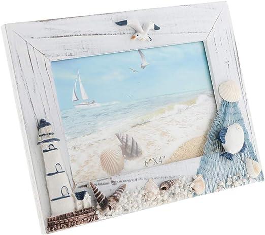 Mediterranean Wooden Wood Photo Frame Desk Tabletop Picture Frame Holder/_B