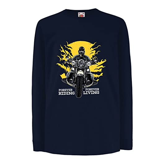 Amazon Com Lepni Me Kids Boys Girls T Shirt Forever Riding Forever