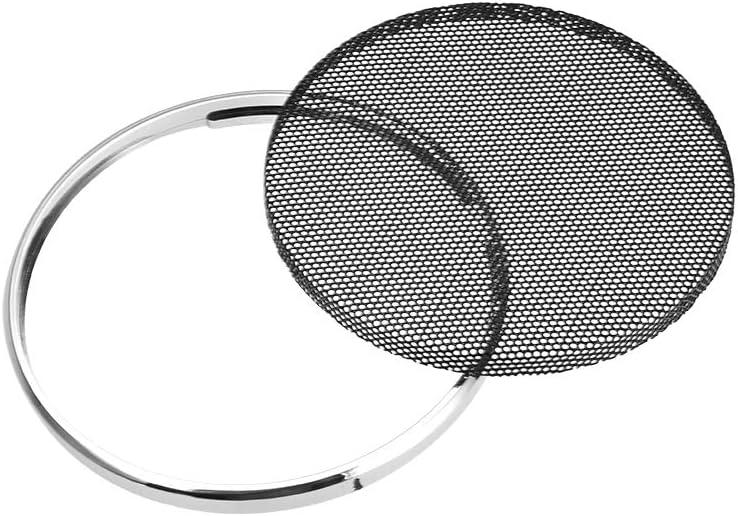sourcing map griglia altoparlante maglia cerchio decor Woofer protezione coperchio argento 2pz 4